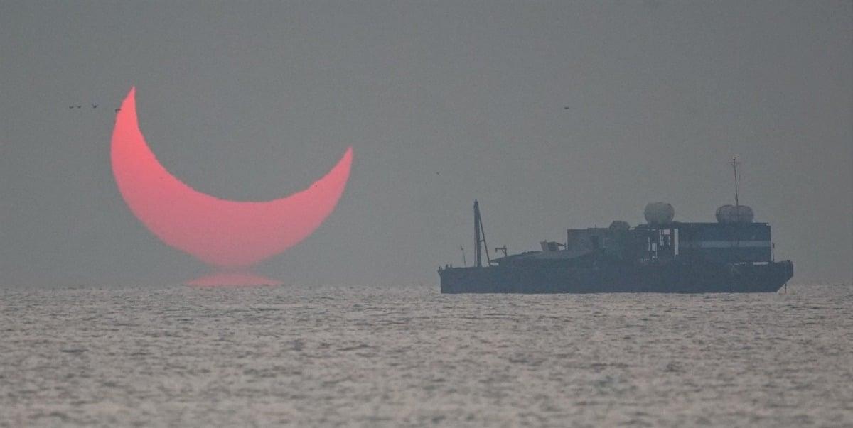 eclipse parcial anular ilusion optica