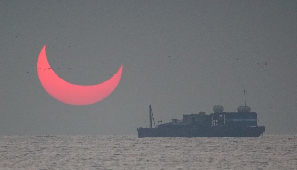 eclipse anular amanecer diciembre 2019