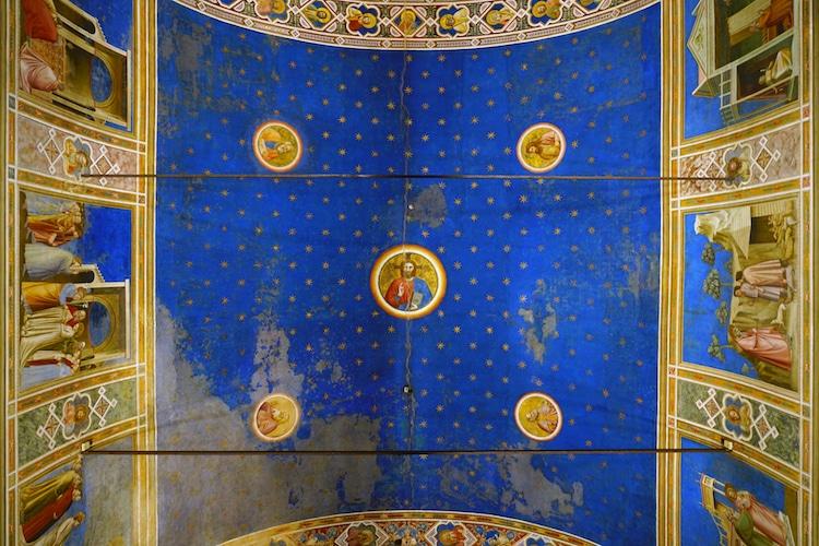 Giotto techo de la capilla de los Scrovegni