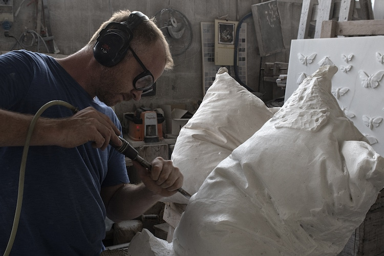 Hakon Anton Fageras Marble Pillow Sculptures