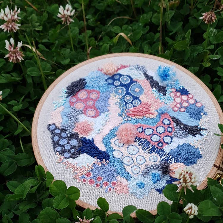 Hannah Kwasnycia Abstract Embroidery