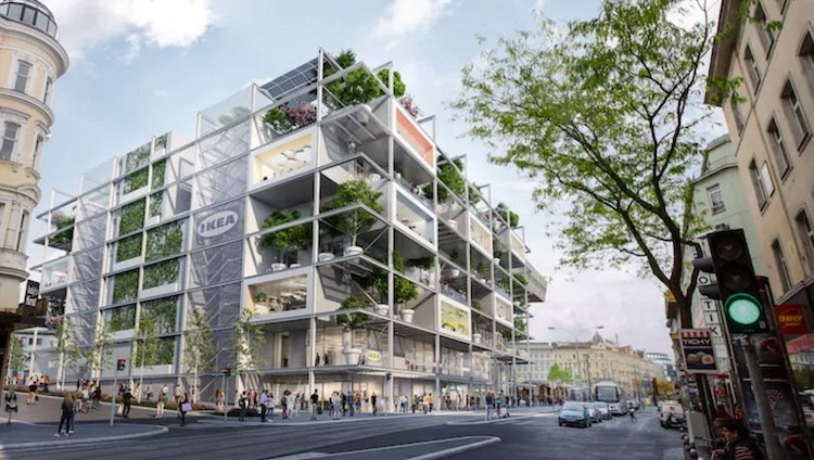 IKEA Westbahnhof in Vienna, Austria