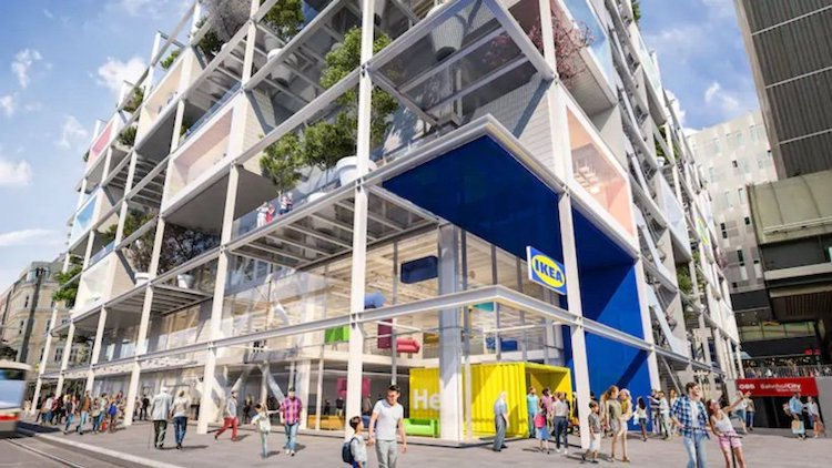 Green IKEA Building in Vienna