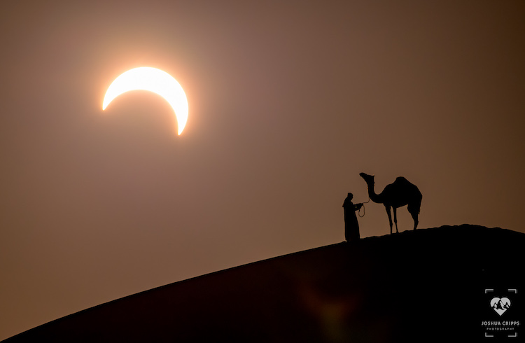 Solar Eclipse Landscape Photography by Joshua Cripps
