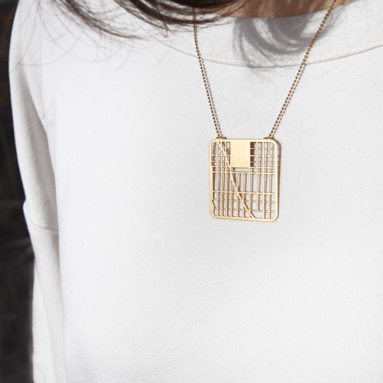 NYC Map Necklace