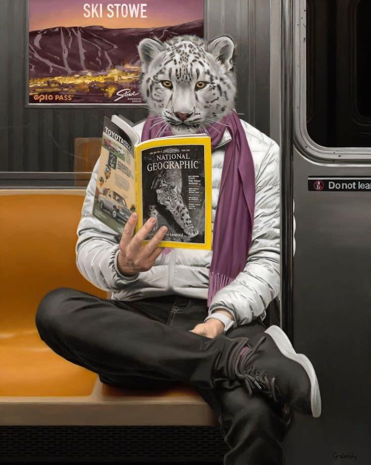 Matthew Grabelsky Passenger Series Paintings