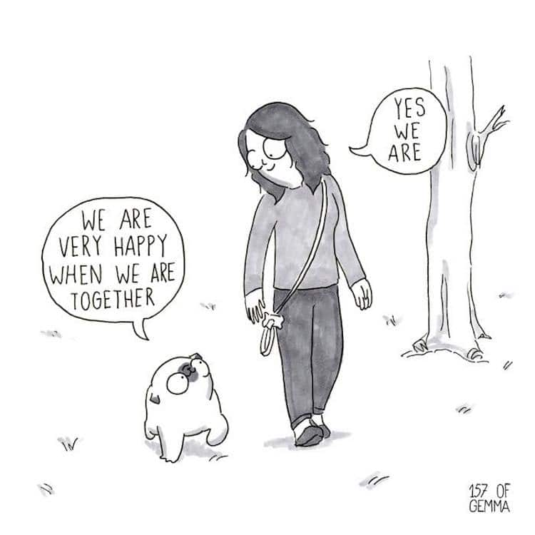Pug Comic by Gemma Gené