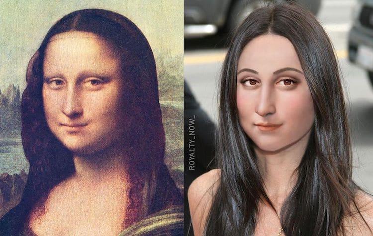 Retrato moderno de la Mona Lisa