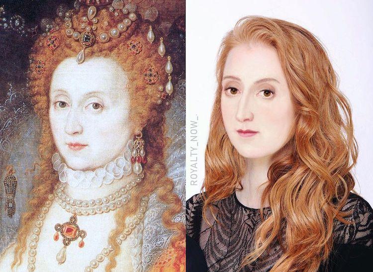 Personajes históricos reimaginados como personas modernas