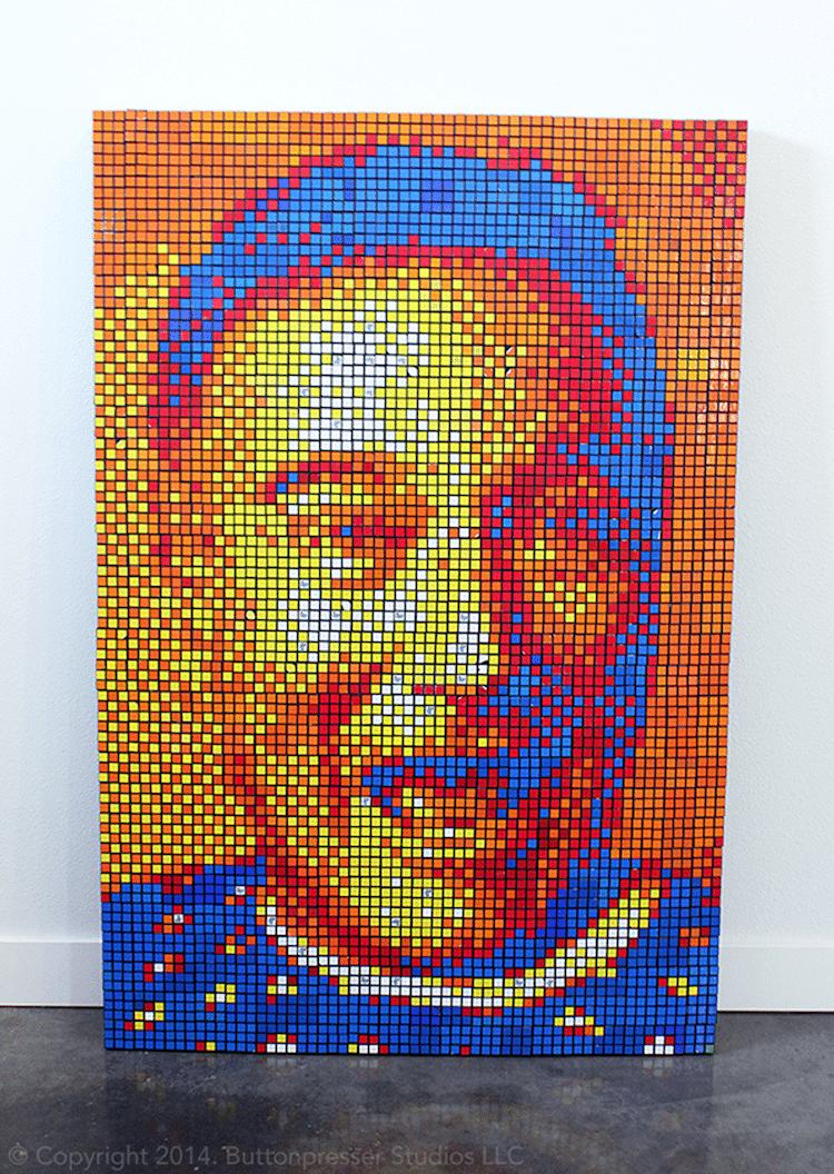 arte con cubos de rubik por Pete Fecteau