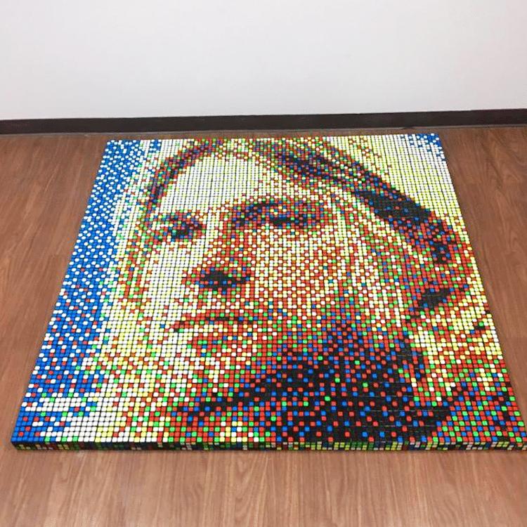 Rubik's Cube Mosaics by Pete Fecteau