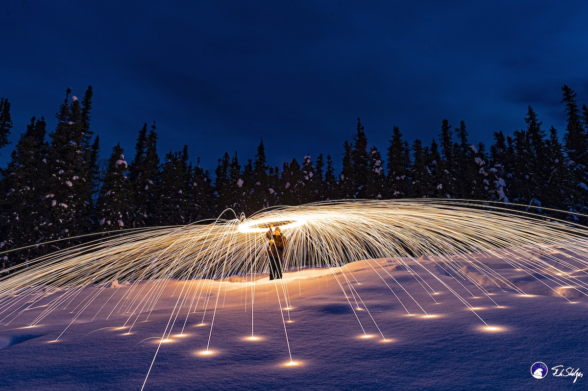 Steel Wool Photography with a Drone