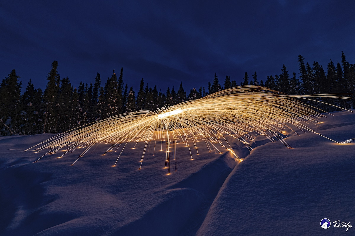 Steel Wool Drone Photography by Frank Stelges