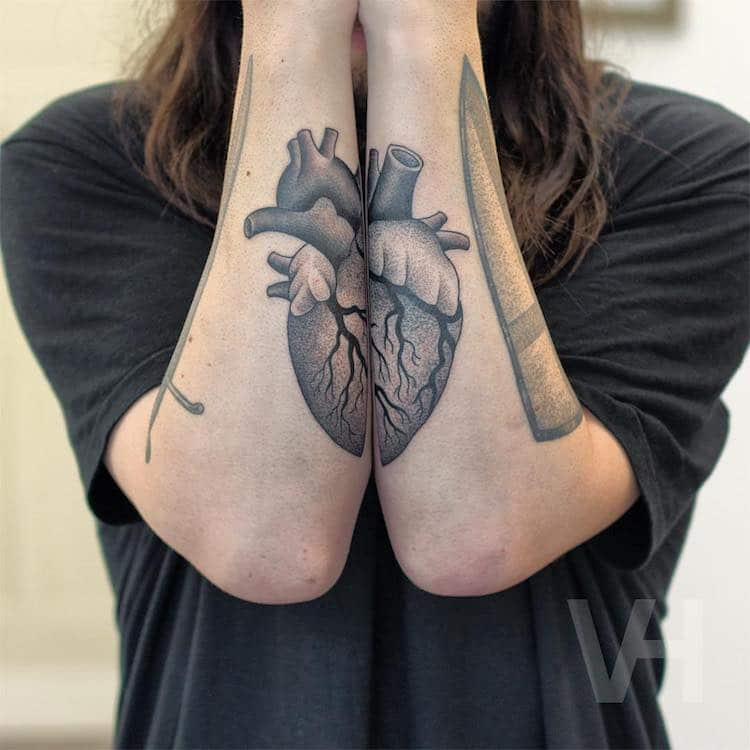 Symmetrical Tattoos by Valentin Hirsch