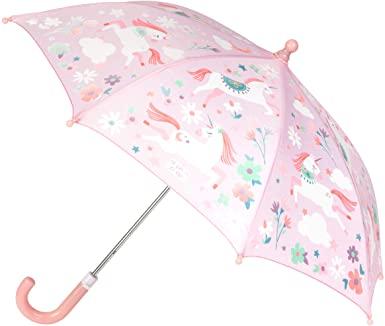 Paraguas de unicornio que cambia de color
