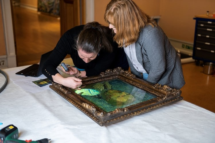 Researchers Examining 'Self-Portrait (1889)' by Vincent Van Gogh