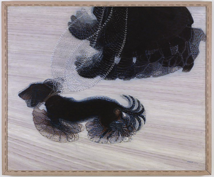 Dynamism of a Dog on a Leash by Giacomo Balla