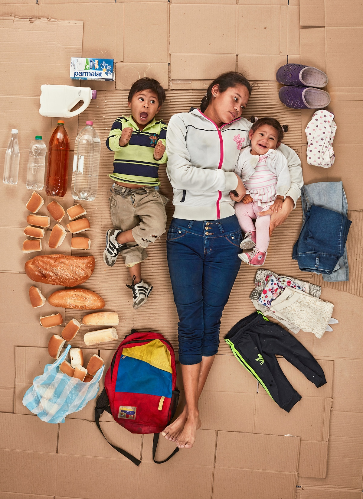 Photograph of Venezuelan Refugee Family by Gregg Segal