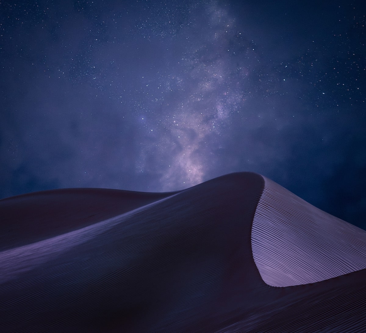 Sharqiya Sands Desert in Oman at Night