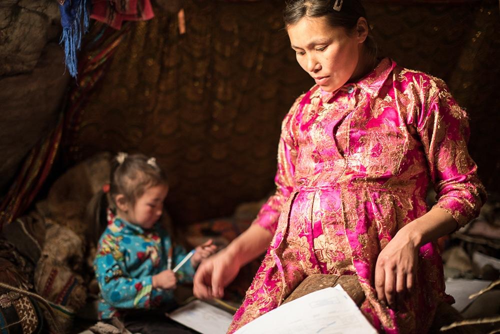 Pregnant Nenets Woman