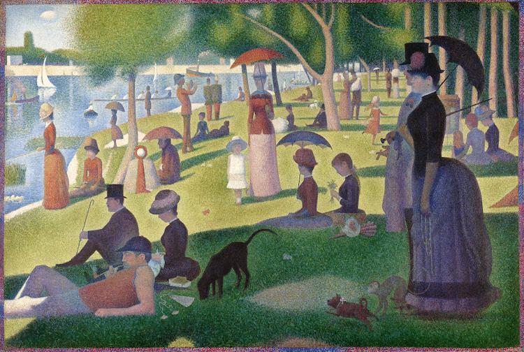 Tarde de domingo en la isla de la Grande Jatte por Georges Seurat