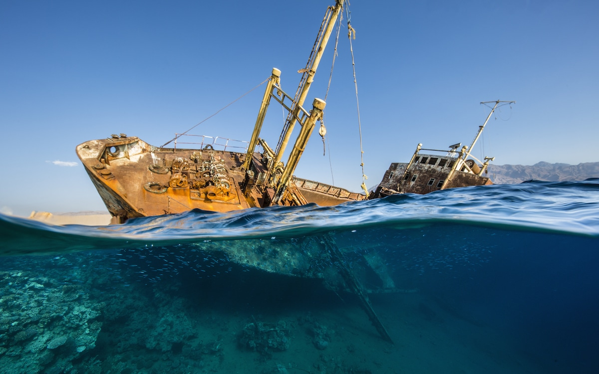 Shipwreck in Saudi Arabia