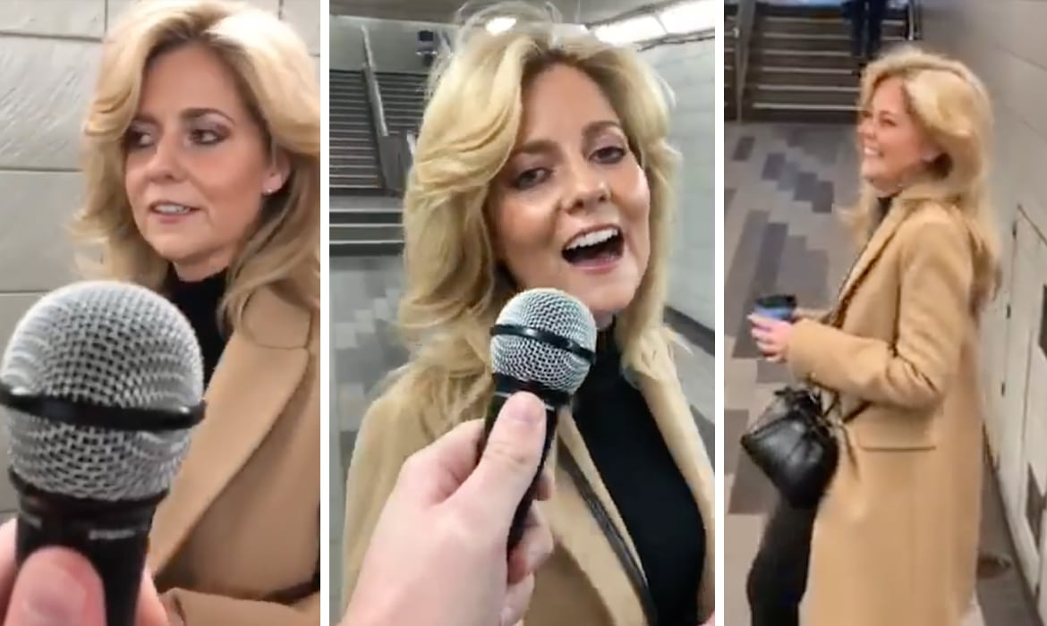 Woman Sings Shallow in Subway
