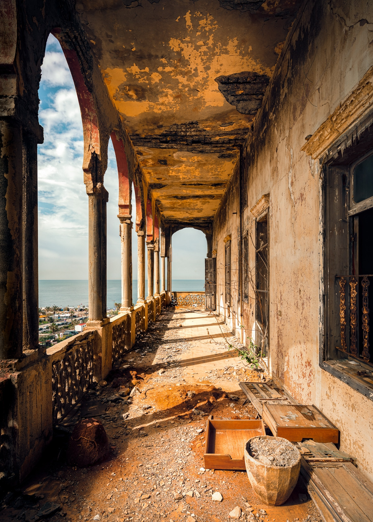 Building Damaged During Civil War in Beirut