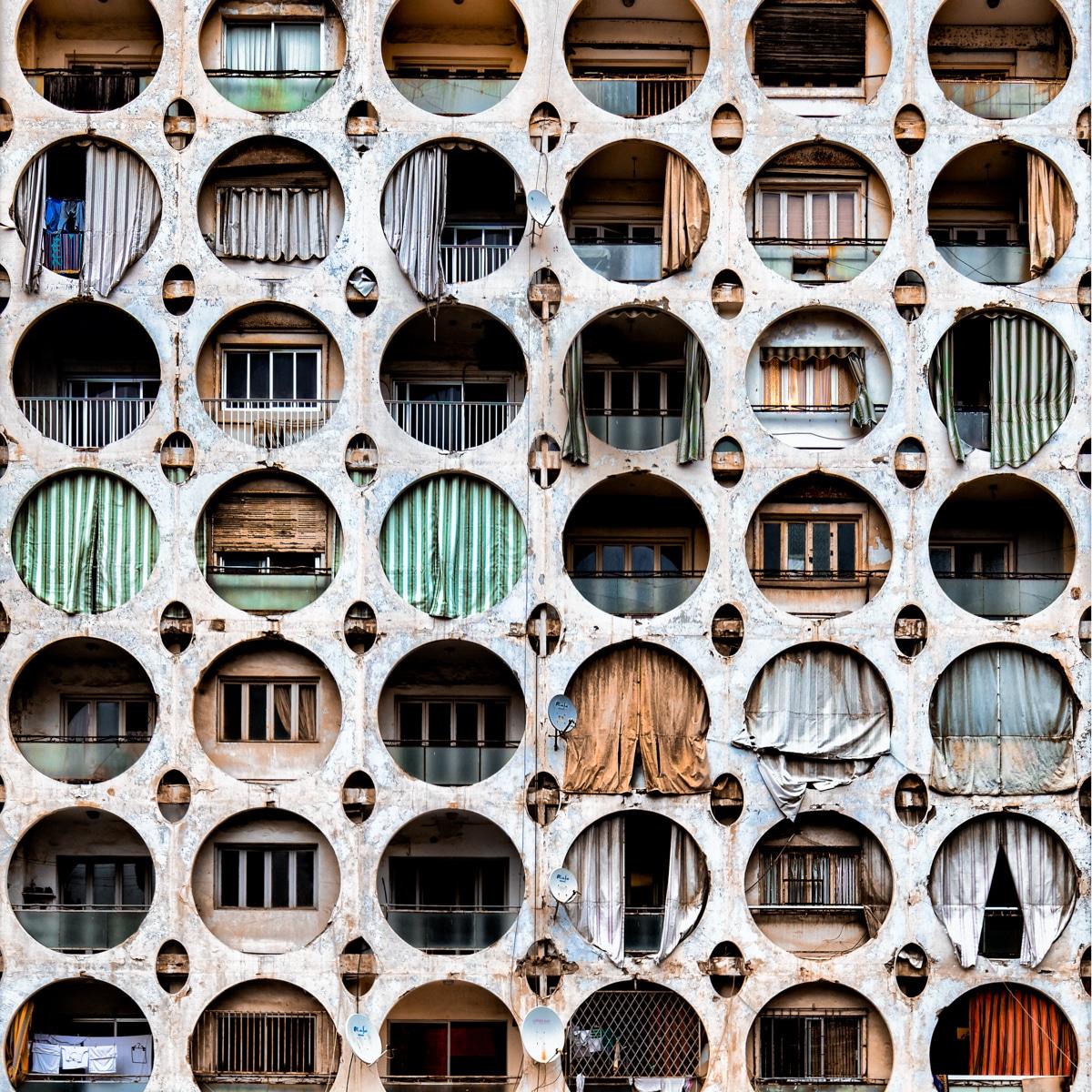 Beirut Apartment Building with Circular Windows