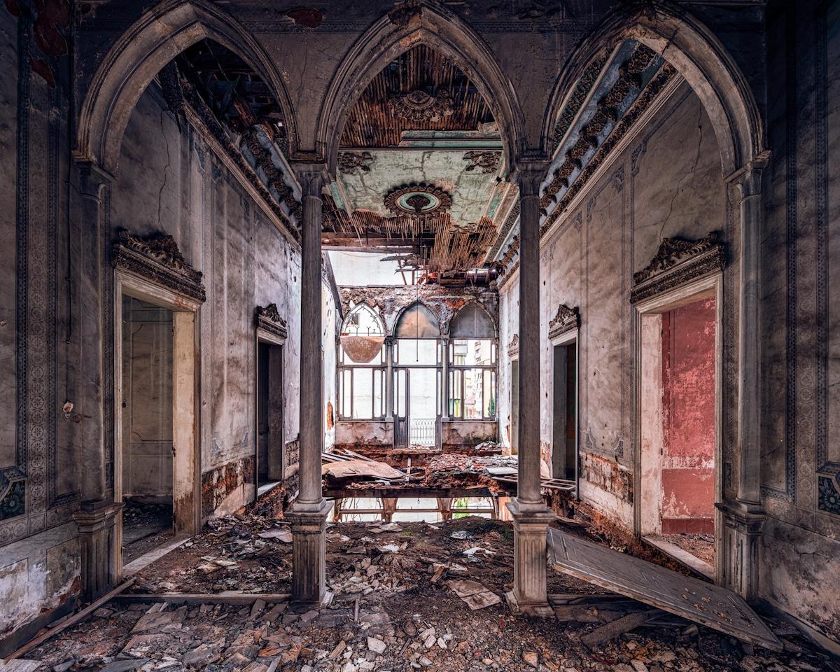 Building Damaged During Civil War in Lebanon