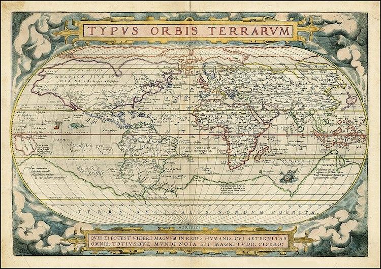Typus Orbis Terrarum de Abraham Ortelius
