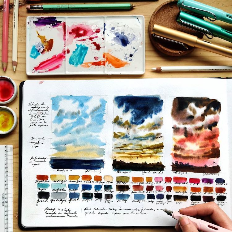 Travel Sketchbook Paintings