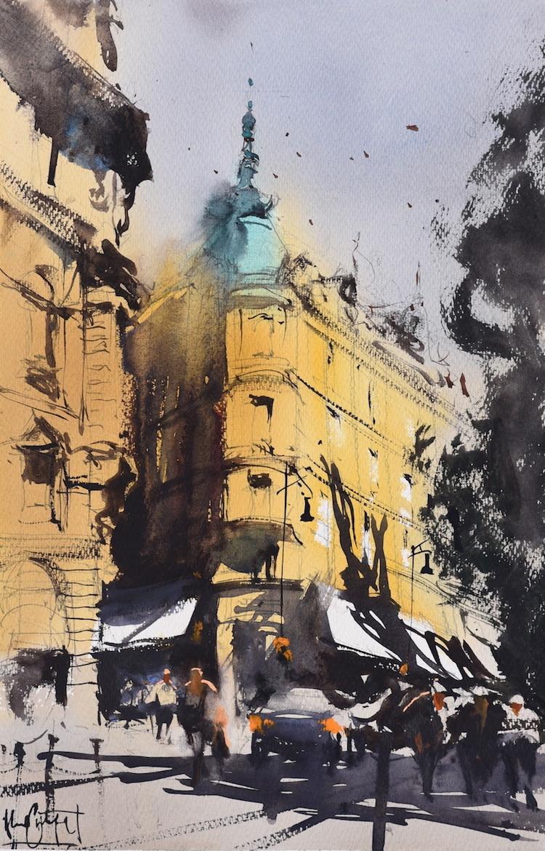 Pinturas en acuarela de Álvaro Castagnet