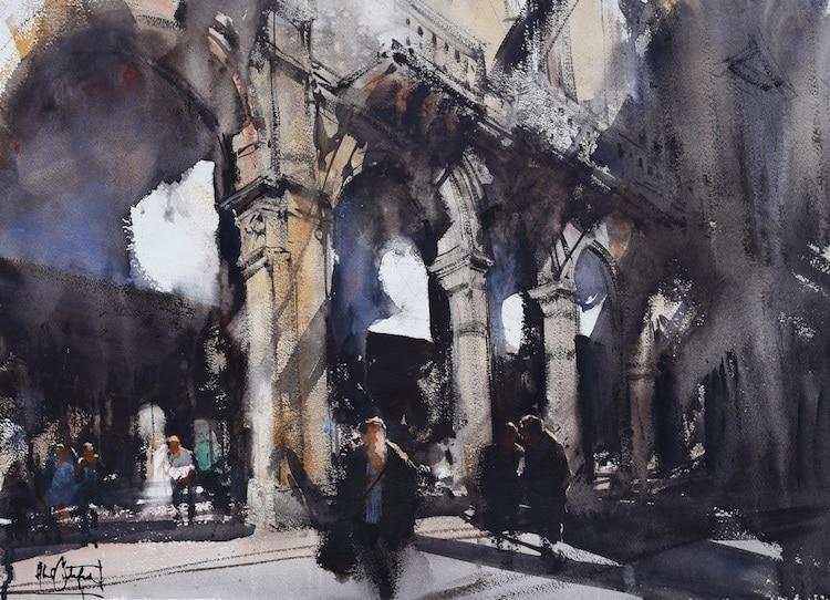 Alvaro Castagnet Watercolor Paintings