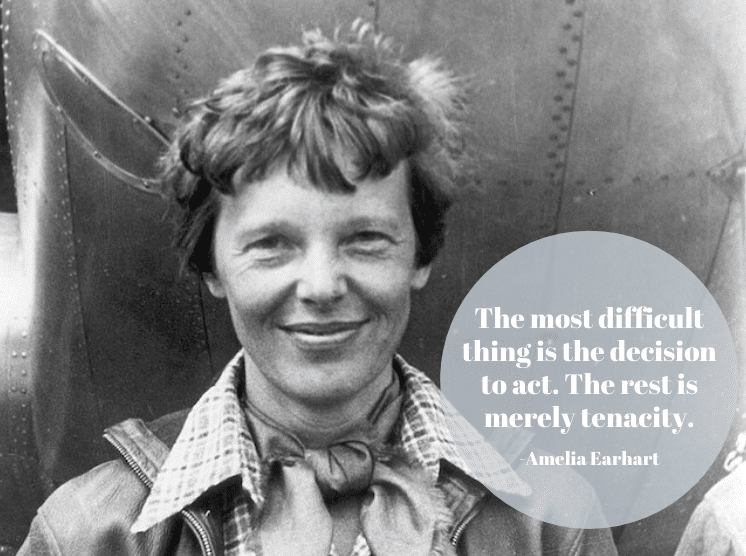 Amelia Earhart Inspirational Quote