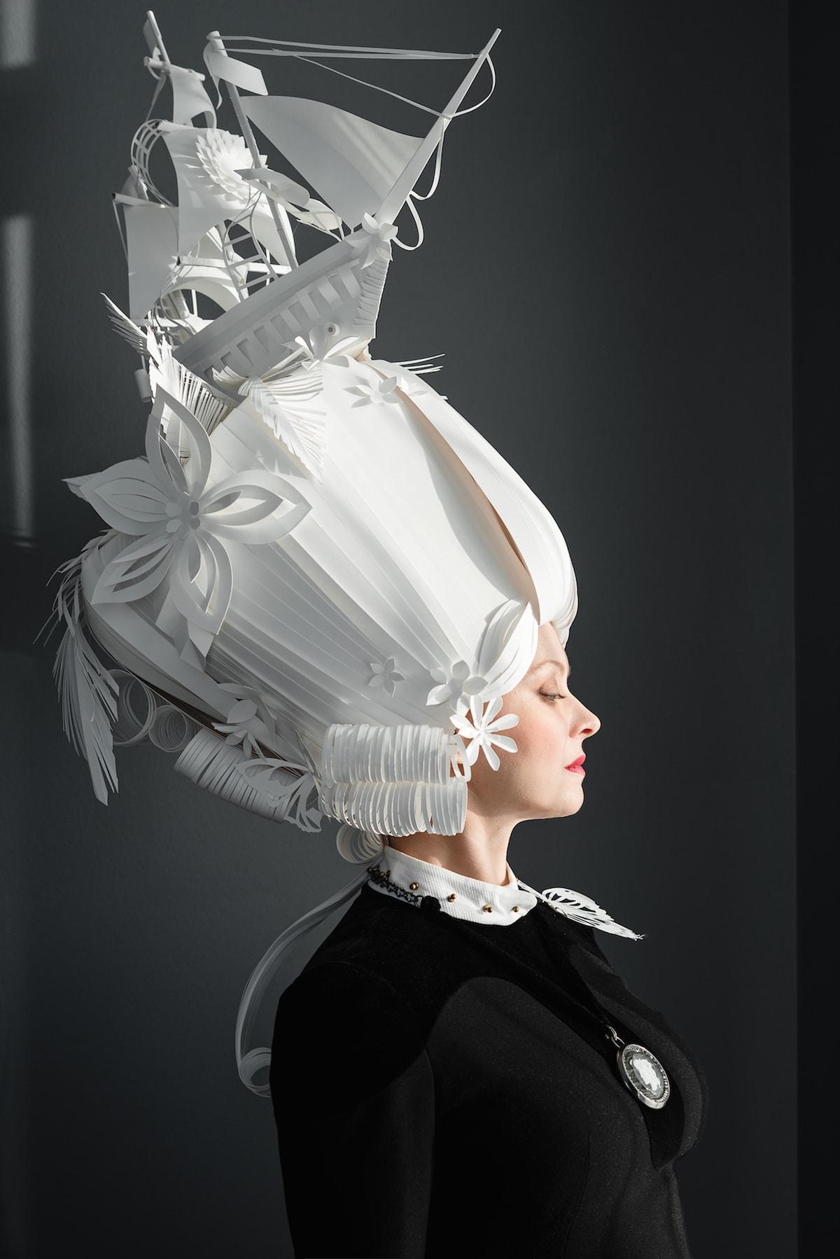 Asya Kozina and Dmitriy Kozin Paper Wigs