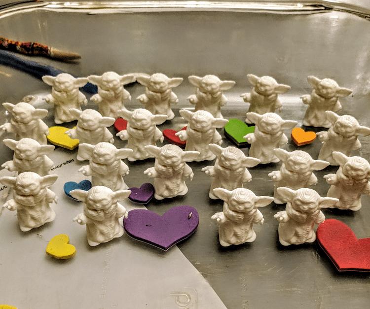 Baby Yoda impreso en 3D para San Valentín