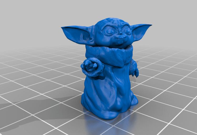 Render de Baby Yoda