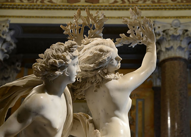 Baroque Sculpture of Two Lovers
