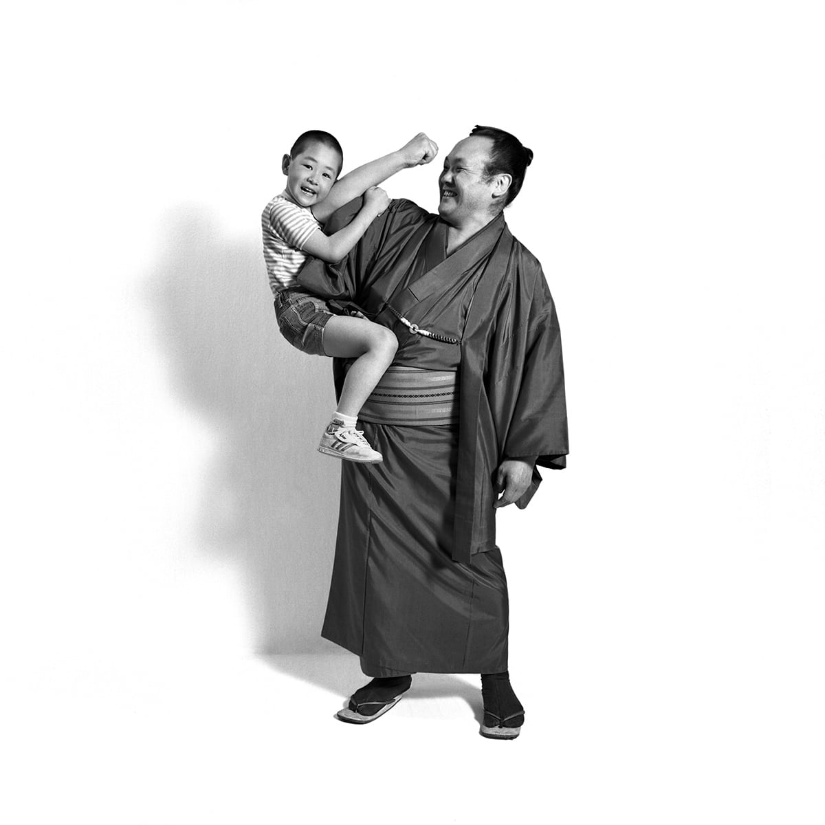 Portrait of Japanese man and his mother