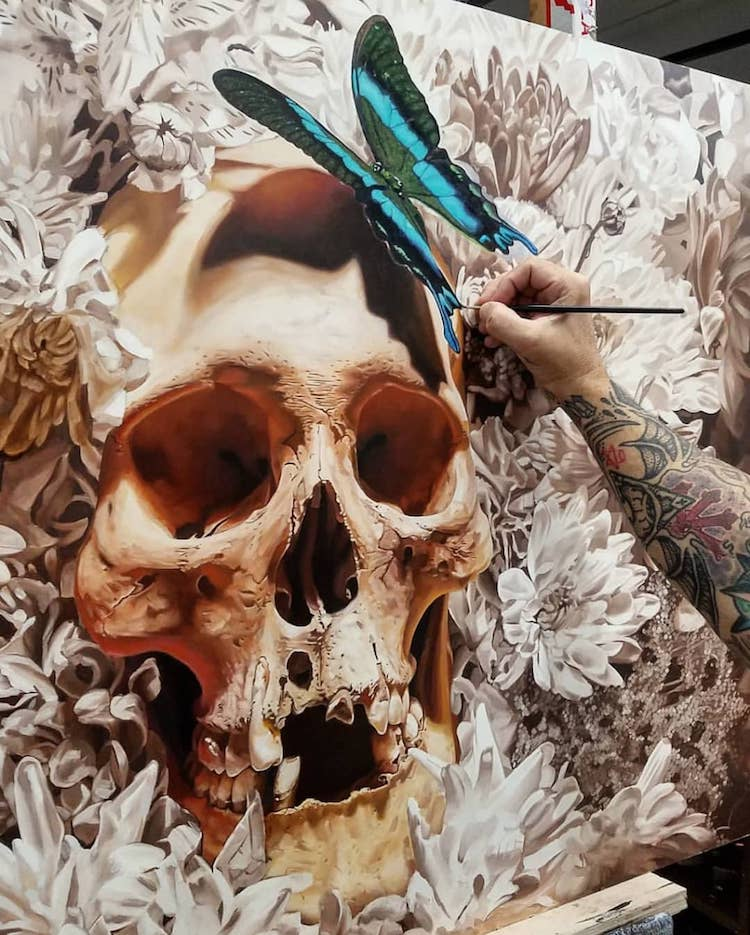 Cam Rackam Skeleton Paintings