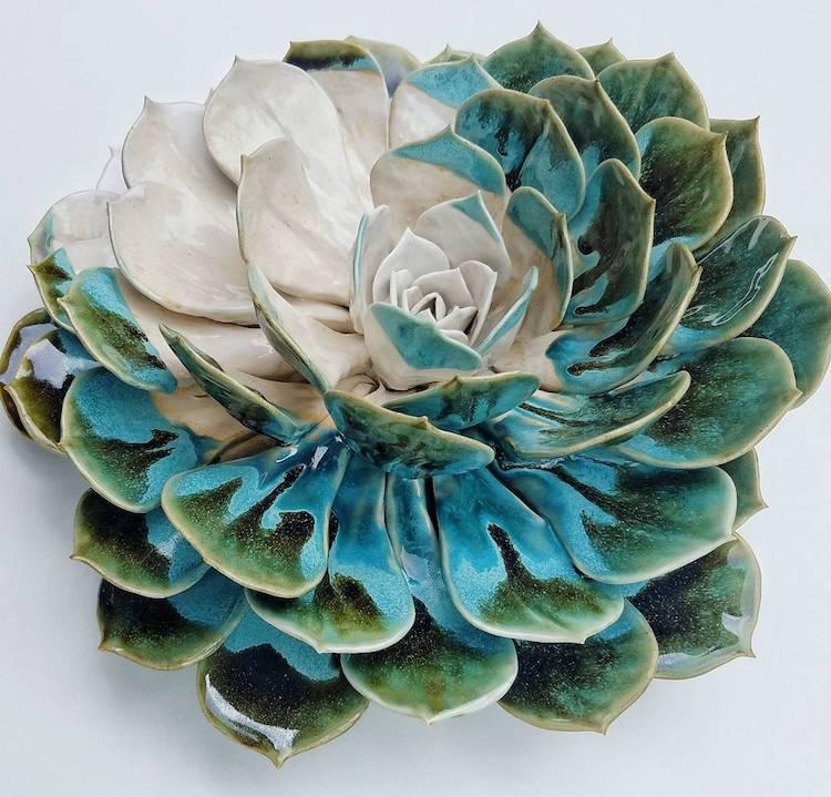 Clay Flowers by Owen Mann