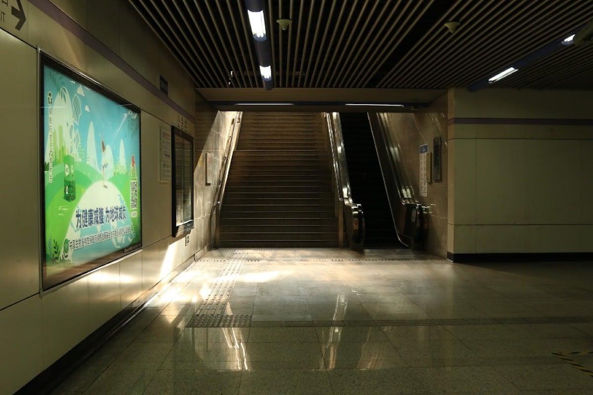 Coronavirus Metro de Shanghai