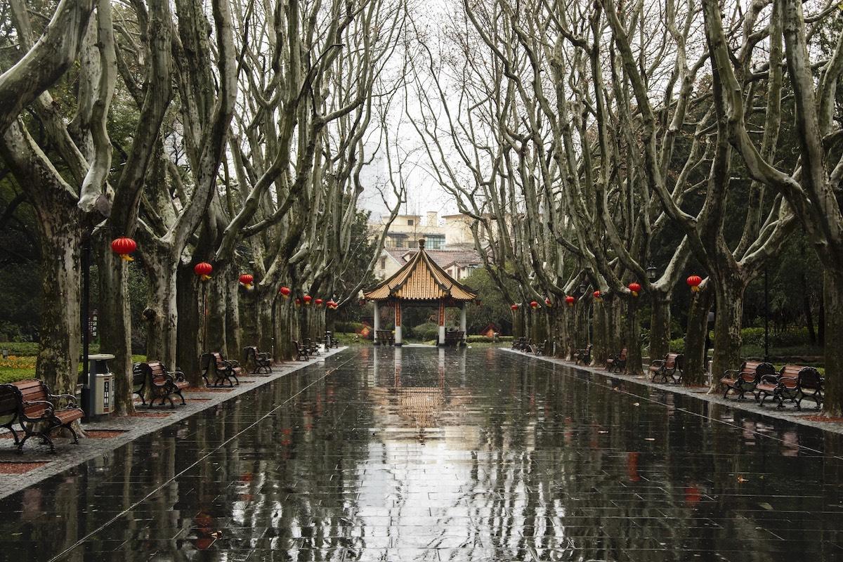 Templo en Shanghai Coronavirus