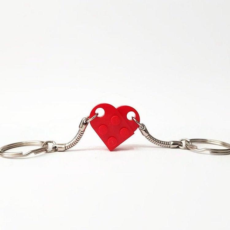 Llavero de corazón para parejas