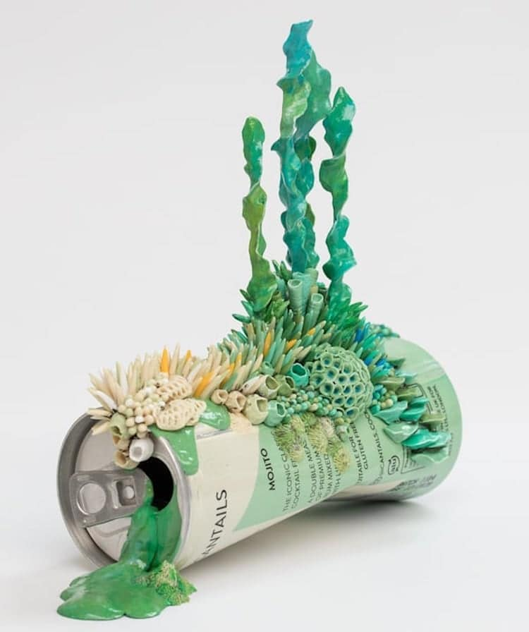 Discarded Objects Ecosystem Sculptures by Stephanie Kilgast