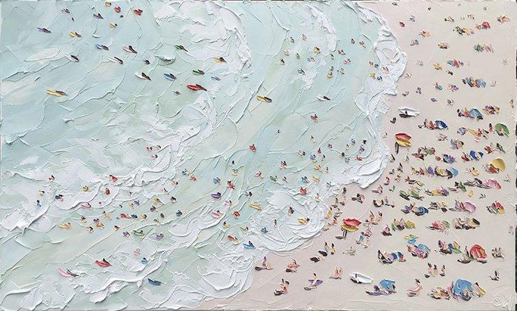 En Plein Air Beach Paintings by Sally West