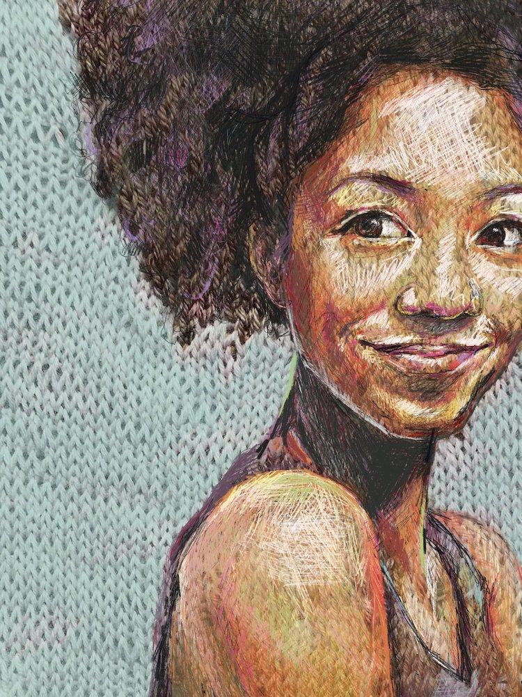 Faith Humphrey retratos tejidos