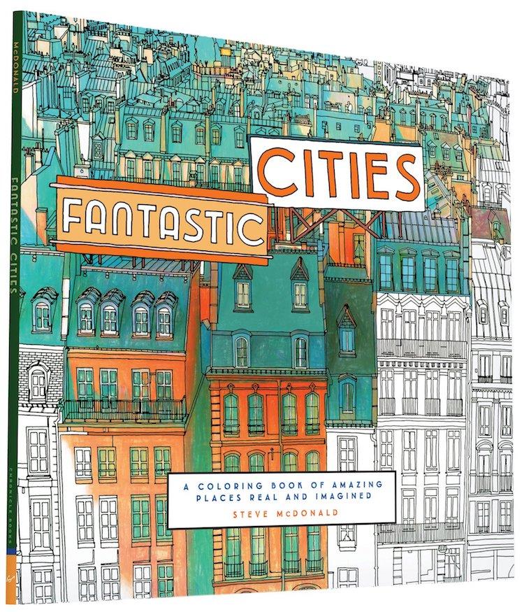 Livre de Coloriage Pour Adulte Fantastic Cities