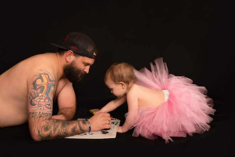Father Daughter Tutu Photoshoot by Jenn Floyd